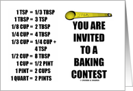 You Are Invited To A Baking Contest Measurements Conversion Chart card