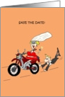 SAVE THE DATE FUNNY BIKER WEDDING INVITATION card