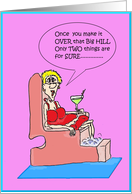 Martini and Pedicure Over the Hill Birthday Card