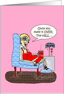FUNNY HOT MAMA OVER THE HILL ENJOY THE DISCOUNTS card