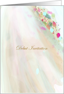 Debut Invite soft flowing fabric card