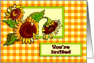 Sunflowers and Gingham General Invitation card