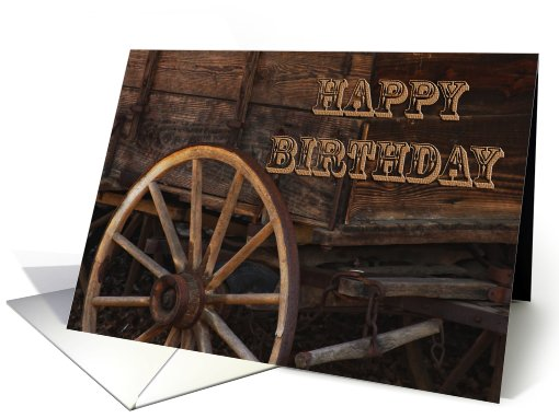 Happy Birthday Old Cart card (611253)