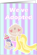 Adoption Announcement Girl card