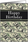 Happy Birthday Cash 100 dollar bills card
