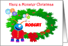 Have a Monster Christmas, Friendly Monster.Custom,Humor, card