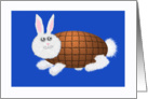 Chocolate Easter Bunny. for my Husband card