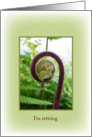 I'm retiring new growing fern on a green frame card