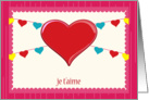 je t'aime, big red heart card