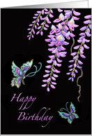 Happy Birthday-Butterflies-Wisteria card
