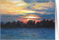 Dramatic Sunset over Petrie Island card