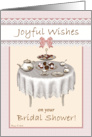 Wedding Bridal Shower Tea Party Table Desserts Congratulations card