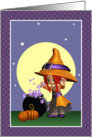 Magic Bubble Witch Blank Note Card
