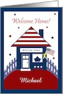 Patriotic House Military Personalized Welcome Home Invitation card