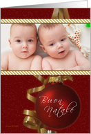 Buon Natale - Italian - Merry Christmas - Your Photo Here Card