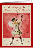 Happy Valentine's Day - Cupid Girl Design card