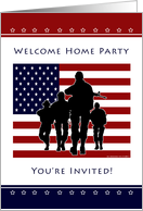 Military Welcome Home Party Invitation card