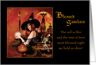 Blessed Samhain - Magickal Night card