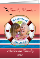Family Reunion Cruise Party Sunset View Photo Invitation card