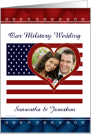 US Patriotic Military Wedding Personalized Photo Invitation card