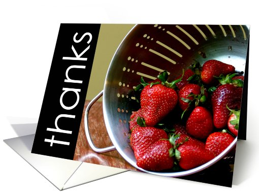 Thanks for your sweet hospitality-strawberries card (625385)