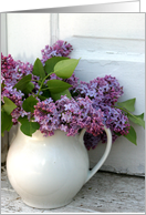 Lilacs in Pitcher card
