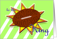 Fantasy Football King-Congrats on ruling the league! card