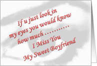 Miss You Cards For Boyfriend From Greeting Card Universe