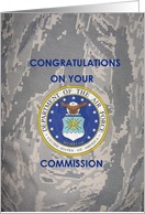 Air Force Commission Greetings card