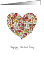 Happy Nurses Day - Heart with Flowers - Whimsical Design card