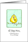 Step-Mom - A little Bird told me - Birthday card