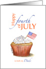 Both my Dads - Happy fourth of July - Independence Day card