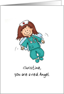Nurses are Angels - Happy Nurses Day - Personalize with name card