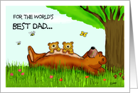 The Worlds Best Dad! card