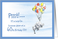 60th surprise birthday invitations from greeting card universe