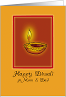 Happy Diwali to Mom and Dad card