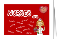Nurses Are - Happy Nurses Day! -Thank You card