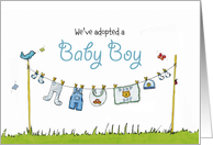 We've adopted a Baby Boy - Adoption Announcement card