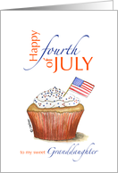 Granddaughter - Happy fourth of July - Independence Day card