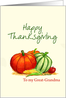 Happy Thanksgiving to my Great-Grandma card