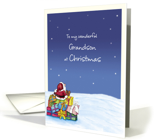 To my wonderful Grandson at Christmas card (930633)