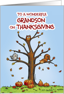 Happy Thanksgiving - Wonderful Grandson card