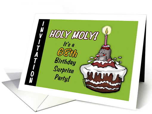 Humorous - 68th Birthday Invitation - Surprise Party -... (932224)