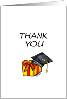 Thank you for the Graduation Gift - Gift with Graduation Hat card