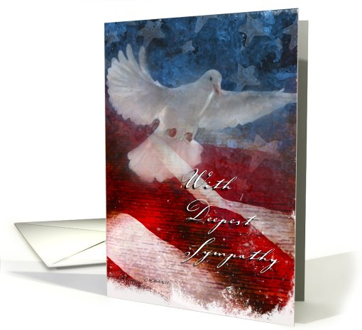 Troop Support - Sympathy Dove card (640083)