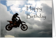 Happy Birthday Card for Dirt Bike Rider card