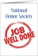 Congratulations, Acceptance into National Honor Society, Nice Work card