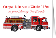 Congratulations Son, Passing Out Parade, Fire Truck card