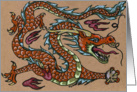 Asian Dragon, tattoo style card