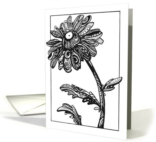 Abstract Daisy, blank note card (652812)